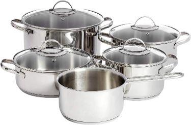 Amazonbasics-utensilios-cocina-inducción-inoxidable-Ollas-de-Acero-Inoxidable