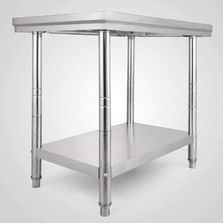 VEVOR-Inoxidable-60x90x80cm-Preparación-Restaurante-mesa-acero-inoxidable